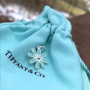 Tiffany&Co blue enamel daisy pendant NEW not used